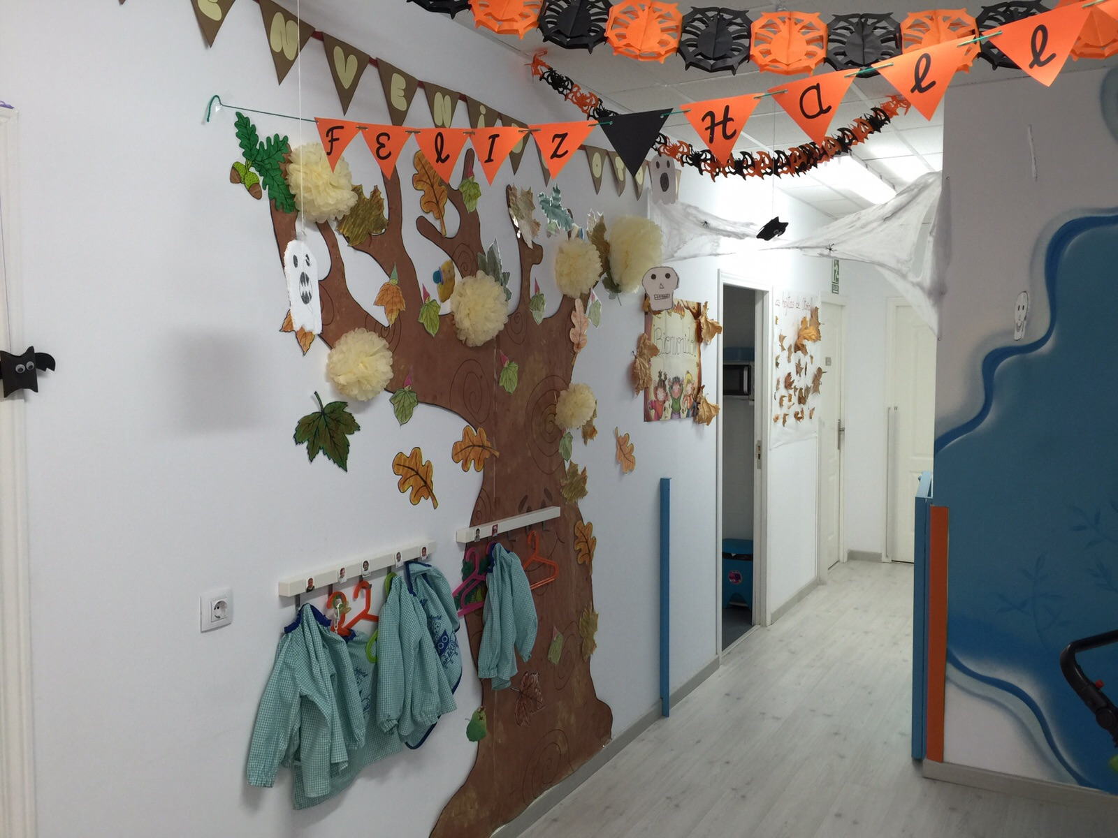Halloween en el hall